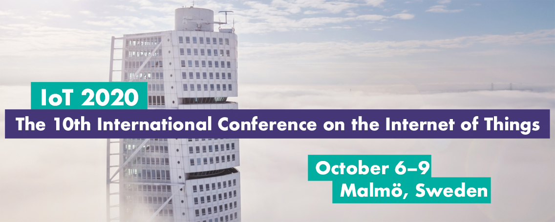 IoT 2020 Conference 6 to 9 october malmoe sweden